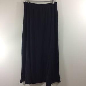 Victor Costa Occasion Black A-line Maxi Skirt L